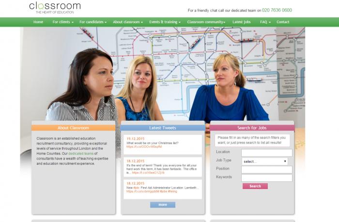 Classroom Ltd web page