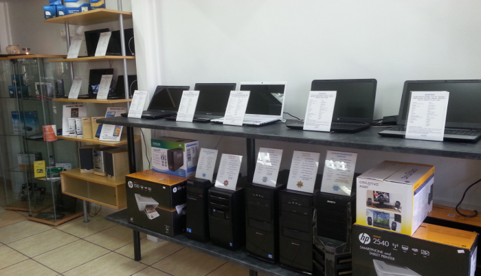 PCs on the shelves